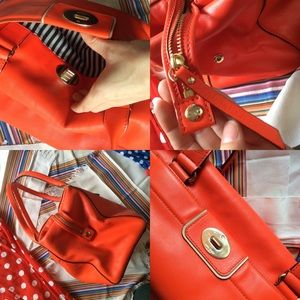 kate spade Bags - Kate Spade NEON Bright Orange Large Shoulder Bag